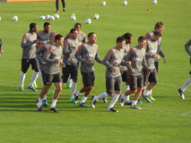 Dutch National Soccer Team. Training of the National Soccer Team of the Netherlands Stock Images