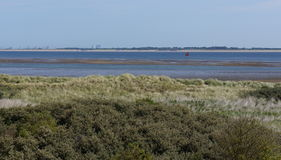 Dutch nature reserve area. Called Kwade Hoek in the region of Goeree-Overflakkee and the Haringvliet river in the Netherlands Stock Photos
