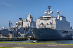 Dutch navy ships Royalty Free Stock Photography