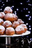 Dutch New Year's Eve with oliebollen Royalty Free Stock Image