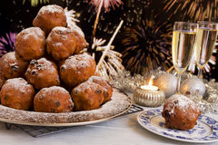 Dutch New Year's Eve with oliebollen Stock Photo