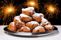 Dutch New Years Eve with oliebollen Stock Photography