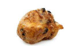 Dutch oliebol baked with currents Stock Photo