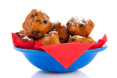 Dutch oliebollen for new years eve Royalty Free Stock Photography