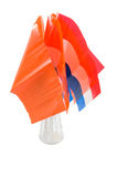 Dutch and orange flags in it for dutch holiday Stock Photo