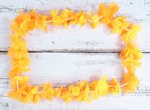 Dutch orange flower necklace Stock Photo