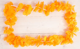 Dutch orange flower necklace Royalty Free Stock Image