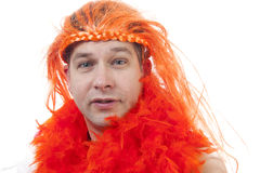 Dutch orange soccer supporter Royalty Free Stock Images