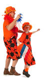 Dutch orange soccer supporters Royalty Free Stock Photo