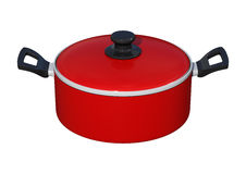 Dutch Oven on White Stock Photography