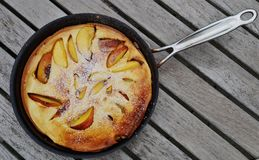 Dutch pancake in a pan Stock Photography
