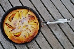 Dutch pancake in a pan Stock Photos