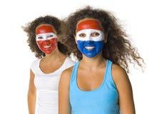 Dutch and Paraguayan girls Stock Image