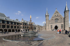 Dutch parlaiment called binnenhof with knight hall Royalty Free Stock Photos
