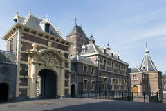 Dutch parlaiment called binnenhof and tower of prime minister Stock Images
