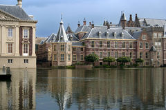Dutch Parliament. The Binnenhof. Dutch Parliament buildings in The Hague, with the 'Torentje', or 'Little Tower', which is the prime minister's office stock image