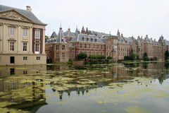 Dutch Parliament. Binnenhof. Dutch Parliament buildings in The Hague royalty free stock photography