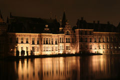 Dutch Parliament at Night Royalty Free Stock Images
