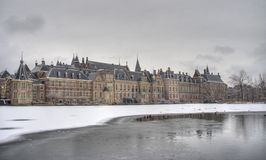 Dutch Parliament in Winter Royalty Free Stock Photography