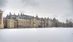 Dutch Parliament in Winter Stock Photography