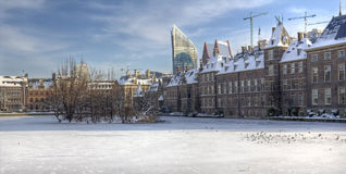 Dutch Parliament in Winter Stock Photo