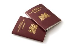 Dutch passports. Two Dutch red official passports royalty free stock photography