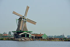 Dutch picture. Typical Dutch picture. Windmills in Holland Royalty Free Stock Photo