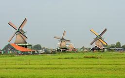 Dutch picture. Typical Dutch picture. Windmills in Holland Royalty Free Stock Photos