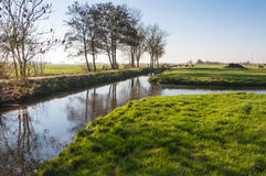Dutch polder landscape in autumn Stock Images