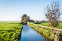 Dutch polder landscape in autumn Royalty Free Stock Photography