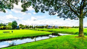 Dutch Polder Landscape in the Netherlands. Typical Dutch Polder Landscape in the Beemster Polder in the western province of Noord Holland in the Netherlands royalty free stock image