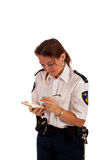 Dutch police officer Royalty Free Stock Photos