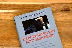 Dutch political pamphlet `De puinhopen van acht jaar paars`, by Pim Fortuyn. Amsterdam, the Netherlands - December 23, 2018: Image of Dutch political pamphlet ` royalty free stock photo