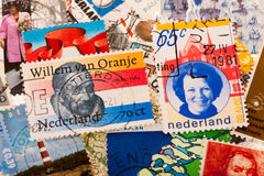 Dutch post stamps Stock Photography