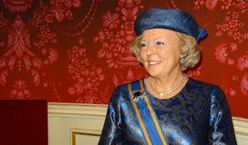 Dutch Princess Beatrix wax figure Stock Image