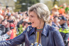 Dutch Princess Laurentien on King's Day in Tilburg. TILBURG-APRIL 27, 2017. Princess Laurentien on King's Day in Tilburg. Petra Laurentien Brinkhorst is the Stock Photography
