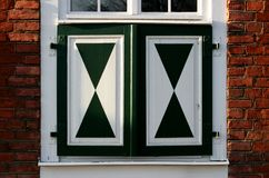 Dutch Quarter in Potsdam, Germany. Windows in dutch quarter (Holländisches Viertel) in Potsdam, Germany Stock Photo