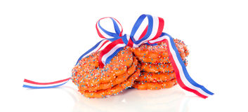 Dutch Queensday cookies Royalty Free Stock Photography