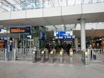 Dutch railway station entrance