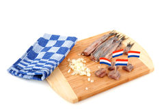 Dutch raw fish Royalty Free Stock Images