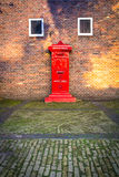 Dutch Red Mail Box Royalty Free Stock Photography