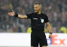 Dutch Referee Bjorn Kuipers royalty free stock photography