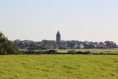 Dutch Reformed church of Hollum at Ameland, Holland Royalty Free Stock Images