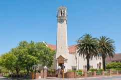 Dutch Reformed Church, Somerset West. CAPE TOWN, SOUTH AFRICA - DECEMBER 10, 2014:  Dutch Reformed Church in Somerset West near Cape Town Royalty Free Stock Photography