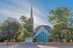 Dutch Reformed Church Upington-East. UPINGTON, SOUTH AFRICA - JUNE 11, 2017: The Dutch Reformed Church Upington-East, in Upington, a town in the Northern Cape stock photography