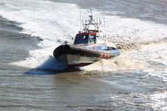 Dutch Rescue brigade at Waddenzee, Holwerd Stock Image