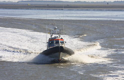 Dutch rescue brigade at Waddenzee near Holwerd stock images