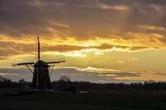 Dutch ritual sunrise Stock Images