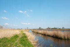 Dutch river. The Eem in nature landscape Stock Photo
