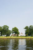 Dutch river. The Eem in the Netherlands Royalty Free Stock Photo